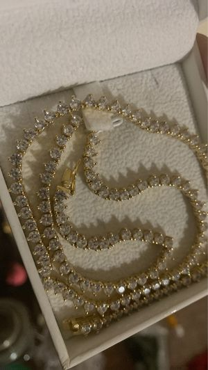 Sterling silver gold plated tennis chain for Sale in Woonsocket, RI