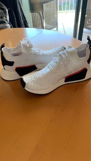 Adidas NMD White with Red/Black accents, Men's Size 10 for Sale in Dallas, TX