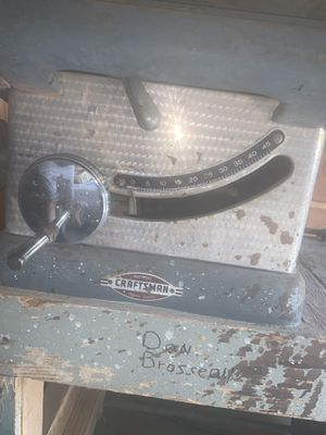 Vintage Table Saw Craftsman for Sale in Temecula, CA
