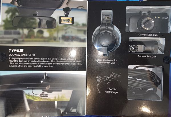 DUOVIEW Front and Rear Camera System Type S Recorder