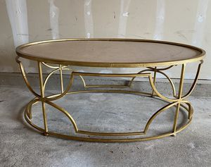 Gold Coffee Table for Sale in Trenton, NJ