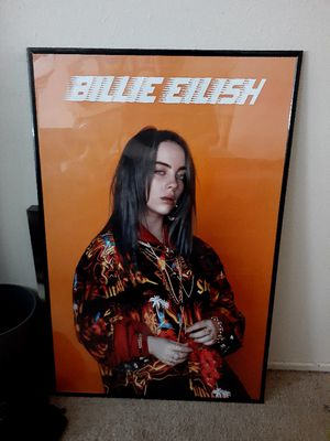 Billie Eilish poster and frane for Sale in San Pedro, CA