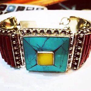 Handmade Tibetan Silver & Stones Elegant Bracelets for Sale in Vienna, VA