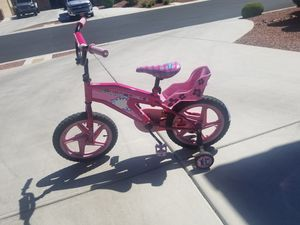 """Barely used 16"""" stinky kids girls bike with training wheels for Sale in Las Vegas, NV"""