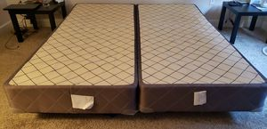 SEALY Box Spring and Metal Frame for Sale in Los Angeles, CA