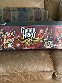 Play Station 2- Guitar Hero Limited Edition Bundle- 2 Guitars for Sale in Fresno,  CA