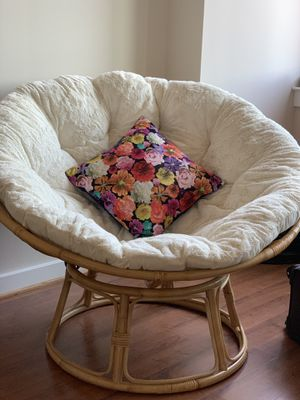 Natural chair frame with cushion for Sale in Arlington, VA