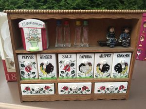 Spice Rack with Antique Knick Knacks for Sale in Greendale, WI