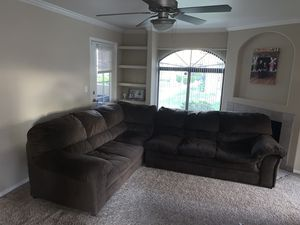 2 Piece Brown Couch for Sale in Scottsdale, AZ