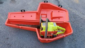"POULAN predator 16"" gas chainsaw w/case for Sale in Rockaway, NJ"