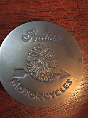 Brass Indian Motorcycles Pin Back Badge for Sale in San Antonio, TX