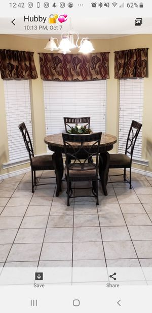 Marble Breakfast table with 4 chairs for Sale in Buda, TX