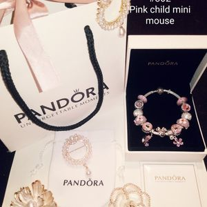 New Pink Kids Pandora Bracelet Mini Mouse for Sale in Columbus, OH