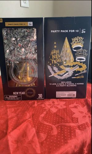 New Years party pack for 10 (NEW) for Sale in Cedar Falls, IA