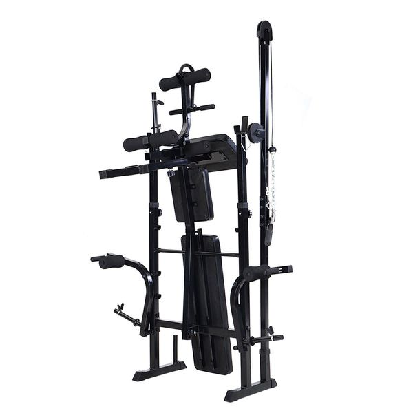 New Adjustable Weight Lifting Flat Bench Rack Set Fitness Exercise Body Workout