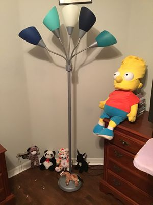 8 children items beautiful stand alone lamp stuffed animals horse stitch panda dog mechanic winding toy spider giant Bart Simpson doll for Sale in Kissimmee, FL