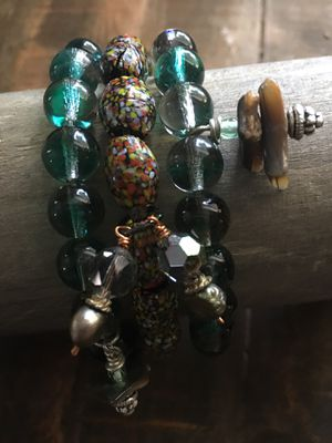 Handcrafted Boho Stretch Bracelet Trio for Sale in Evesham Township, NJ