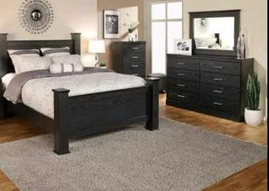 BRAND NEW 4 PC QUEEN SIZE BEDROOM SET BED DRESSER MIRROR NIGHTSTAND NEW FURNITURE ADD MATTRESS AVAILABLE USA MEXICO FURNITURE for Sale in Riverside, CA