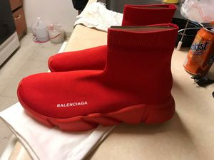Balenciaga speed trainer red (size 9.5) for Sale in Pasadena, CA
