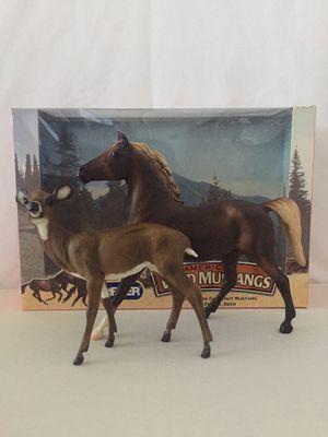 Chestnut Mustang and Deer Breyer Set for Sale in Glendale, AZ
