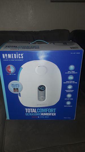 New Homedics total comfort ultrasonic humidifier warm cold for Sale in Tacoma, WA