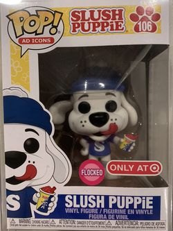 Flocked Slush Puppies Funko Pop *MINT* Target Exclusive ICEE Ad Icons 106 with protector for Sale in Lewisville,  TX