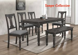 NEW, 6PC Distressed Dining Room SET, SKU# 7816-7716 for Sale in Huntington Beach, CA