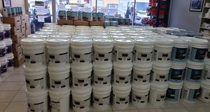 White Latex Acrylic paint. One Coat coverage for Sale in Hialeah, FL