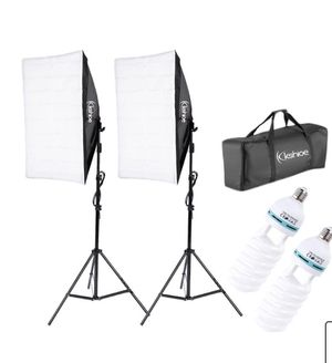 2PCS Lighting Softbox Photography Photo Equipment Bulb Studio Light Kit for Sale in Miami, FL