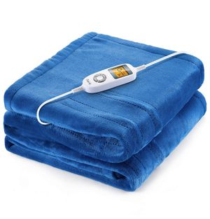"Heated Blanket Electric Throw, 60""x 50"" Flannel Electric Blanket with 10 Heating Levels & 1H/2H/3H Auto Off, ETL Certified, Overheating Protection H for Sale in Temple City, CA"