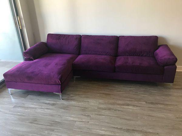 Sectional Velvet sofa