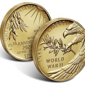 End of World War II 75th Anniversary 24-Karat Gold Coin for Sale in San Diego, CA