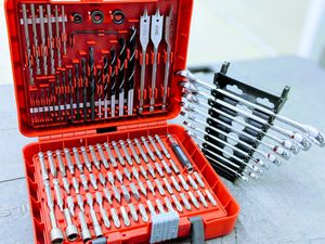 Drill bit kit and 🔧 wrenches for Sale in Houston, TX