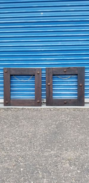 2 Solid Wood Rustic Frames for Sale in Phoenix, AZ