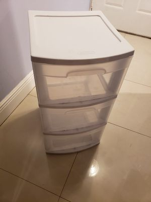 3 Drawer Plastic Storage Container for Sale in Pembroke Pines, FL