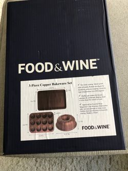 Food & Wine 3 Piece Copper Bakeware Set for Sale in Buffalo Grove,  IL
