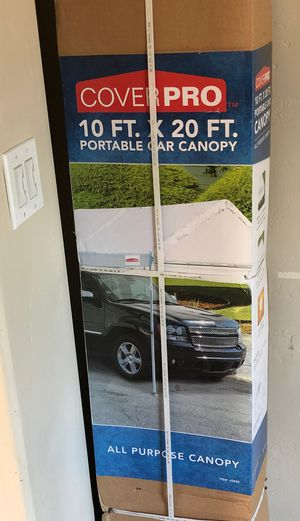 New ALL PURPOSE CANOPY COVER / TENT PORTABLE CAR CANOPY 10 ft. X 20 ft. for Sale in Carmichael, CA