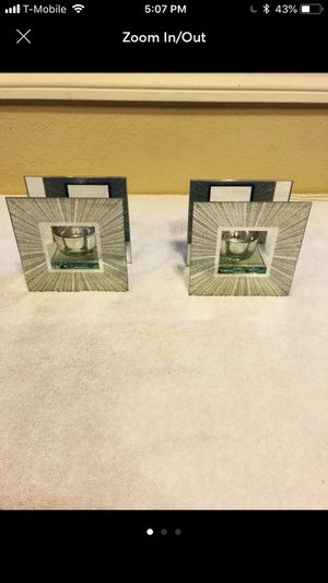 Glass Embossed Candle Holder Set of 2. for Sale in Garden Grove, CA