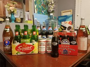 COLORADO Collectable Pepsi, Orange Crush, Coca-Cola, 7UP, and Budweiser bottles/cans!!! for Sale in Westminster, CO