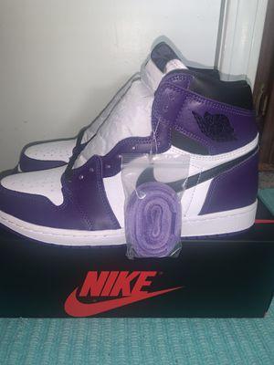 Jordan 1 court purple for Sale in Fairview Park, OH