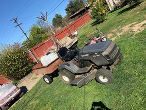 Riding mower and trailer for sale for Sale in Riverside, CA