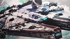 Large Custom Canvas oil painting of the Millennium Falcon signature unknown asking 550 or best offer for Sale in Houston, TX