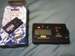 KORG chromatic CA-30 guitar bass tuner in box with manual for Sale in Miami, FL