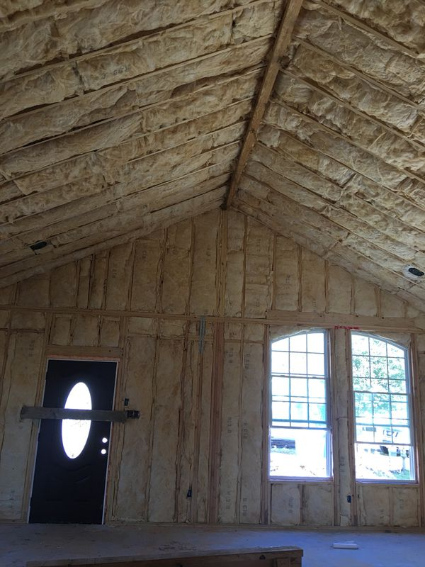 Fiberglass insulation. blown insulation. Spray foam ...