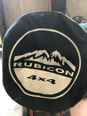 """Jeep rubicon JK 17 """" tire cover $35. Dlls for Sale in Houston, TX"""