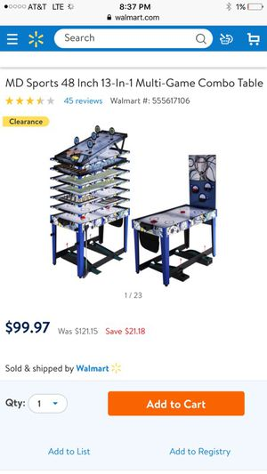 Multi Game 13 in one for Sale in Tolleson, AZ