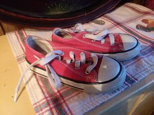Converse Red Sneakers Girls s 8 for Sale in Toms River, NJ