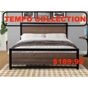 Queen Metal Bed Frame with Headboard, #7569Q for Sale in Pico Rivera, CA