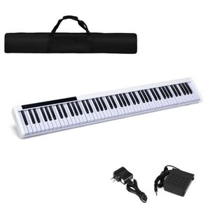 88-Key Portable Electronic Piano With Bluetooth And Voice Function-White TY579535WH for Sale in Hacienda Heights, CA