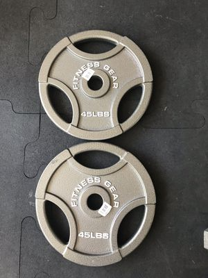Olympic weight plates (2x45Lbs) for $200 Firm on Price for Sale in Walnut, CA